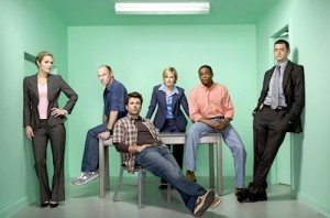 The hit T.V. show Psych is coming to an end in the very last episode, The Break-Up, with such a fitting title. The main cast of Psych (from left), Maggie Lawson as Juliet O'Hara, Corbin Bernsen as Henry Spencer, James Roday as Shawn Spencer, Kirsten Nielson as Karen Vick, Dule Hill as Gus, and Timothy Omundson as Carlton Lassiter.