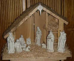 """Is the 'Christ' being kept in Christmas? Senior Maggie Lair's favorite tradition has been setting up the manger scene with her younger sister. Lair stated, """"In my house, we still set up a manger scene throughout the Advent season."""""""