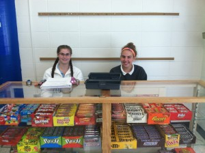 During specified lunches, the athletic office allows student athletes to get service hours by working the candy counter. Sophomores, Anna Keene and Liv Long managed the candy counter during lunch 3 on September 20. All athletes at MND have to complete 5 hours of sports related service, and candy counter is one of the opportunities given.