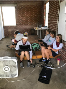 "The engineering class performs tasks using the Sisters of Notre Dame's solar panels stored in a garage near the convent. The class has had the opportunity to work with a 3D printer and are currently studying drones. Senior, Dorie Coggin says, "" I really like the programming aspect of engineering, and I really enjoy the 3D printing too."""